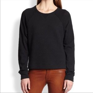 Rag & Bone | Black Rein Quilted Sweatshirt